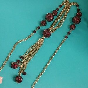 Charming Charlie gold tone necklace
